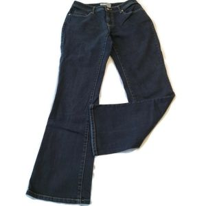 Chicos Blue Jeans Size 0 = Womens 4 Dark Wash Boot